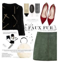 """""""faux fur. <3"""" by tatjana ❤ liked on Polyvore featuring Moschino, George J. Love, H&M, Trendy, fauxfur and polyvorecontest"""