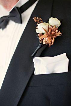 Copper Wedding Boutonnieres