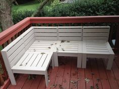 Simple Modern Outdoor Sectional | Do It Yourself Home Projects from Ana White-original post by woodguysgirl...what I was looking for!!!