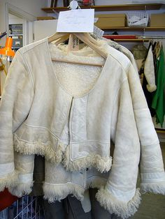 warm jackets    These lovely sheep jackets look so warm and inviting!