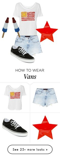 """4th Of July Look No. 1"" by triplej614 on Polyvore featuring Jimmy Choo, Alexander Wang and Vans"