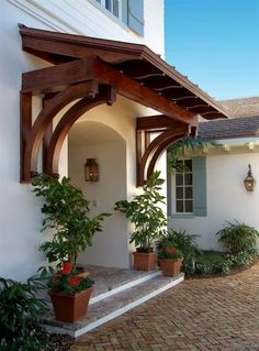 A portico is an easy way to add architectural interest