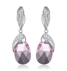 Carnevale Sterling Silver Briolette with Swarovski Elements Earrings