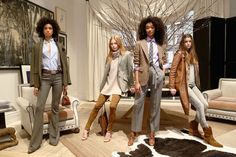 Welcome to the fabulous world of Ralph Lauren's Polo collection, shown at the company's swanky Madison Avenue headquarters where guests were ushered in by a well-coiffed wait staff proffering Champagne