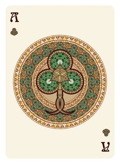 Nouveau BOURGOGNE Playing Cards Ace of Clubs - playing cards art, game, playing cards collection, playing cards project, cards collectors, design, illustration, card game, game, cards, cardist, cardistry, bijoux, jewelry