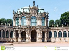 Zwinger palace (today is a museum complex) in Dresden, Germany. Build from 1710 to 1728. Architect Matthaus Daniel Poppelmann.