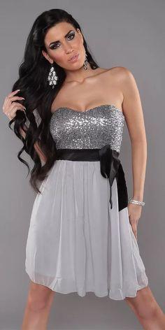 Společenské dámské šaty Strapless Dress Formal, Formal Dresses, Couture, Coral, Outfit, Colorado, Fashion, Short Prom Dresses, Party Dress