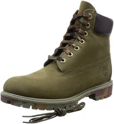 8a930be4c0d6b Timberland Mens Icon 6 Inch Premium Boot Olive Nubuck Camo Outsole 13 M US