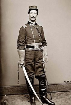 us cavalry vintage indian wars | Cavalry Officer in Uniform
