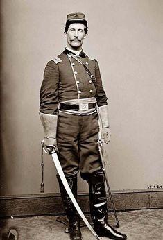 us cavalry vintage indian wars   Cavalry Officer in Uniform