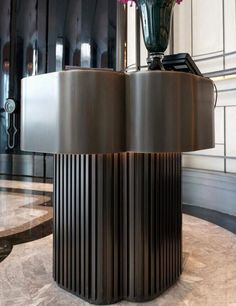 A Deeper Look at the Incredible Interiors and Projects of AB Concept Reception Desk Design, Lobby Reception, Reception Counter, Reception Table, Bar Counter, Ab Concept, Lobby Interior, Interior Design, Hotel Lounge