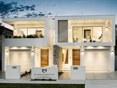 M Cubed Architects - Sydney Duplexes, Designer Houses, Townhouses - Sutherland Shire, Georges River, Bayside Row House Design, Duplex House Design, Architects Sydney, Chalet Design, Modern Townhouse, Duplex House Plans, Weekend House, Fancy Houses, Dream House Exterior