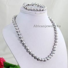 Free Shipping High Quanlity Gray Pearl by Africanjewelry4u on Etsy