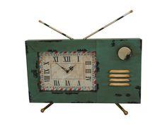 Home :: Clocks :: Indoor Wall Clocks :: Retro & Industrial :: Wall Mounted Clock on Decorative Antique TV Wall Clocks, Home Decor Accessories, Wall Mount, Industrial, Indoor, Earth, Retro, Tv, Antiques