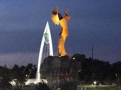Keeper of the Plains at the confluence of the Big and Little Arkansas Rivers, Wichita