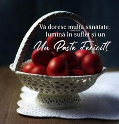 Happy Easter, Serving Bowls, Plum, Cherry, Fruit, Tableware, Food, Mary, Memes