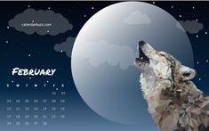 February 2019 Wolf Calendar 20 Best February 2019 Calendar images | Holiday calendar, 2019