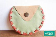 Half moon leather wallet. $7.00