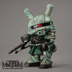 "Tenacious Toys Blog: Zaku Gunny - Custom 3"" Dunny Commission"