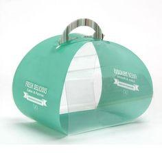 PP birthday cake packaging box,transparent,portable,fashion design.