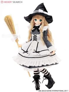 Azone Pure Neemo EX Cute: Little Witch of the Wind Koron 1:6 Doll