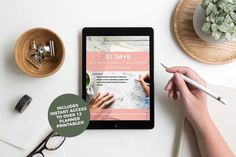Bullet Journaling eBook - 21 Days To A More Creative And Purposeful Bullet Journal. If you've been struggling to start a bullet journal, stay up to date with your planning, reach your goals, or find inspiration, this eBook is for you!