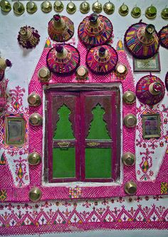 colorful house and doors. Libya
