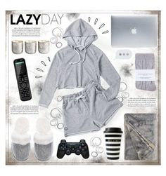 """""""LAZY DAY"""" by celine-diaz-1 on Polyvore featuring Illume, Victoria's Secret, Johnstons, Incase, Sony, Old Navy and Logitech"""
