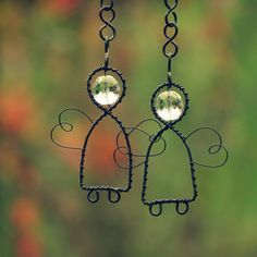 Lovely sun catcher angels, made out of wire