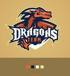 Dragons Team by Mortadi Marwane Sports Decals, Game Logo Design, Esports Logo, Sports Team Logos, Logo Creation, Mascot Design, Clothing Logo, Logo Concept, Art Logo