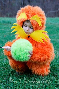 DIY: The Lorax costume and Truffula Tree. :)