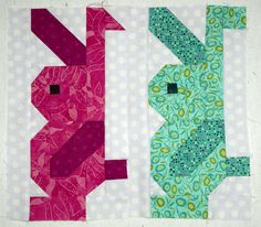 Image result for quilt block bunny