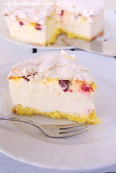 Cytrynowy puch z malinami – Najlepsze Smakołyki Lemon Curd, Vanilla Cake, Ale, Cooking Recipes, Cooking Ideas, Cheesecake, Deserts, Food And Drink, Cupcakes
