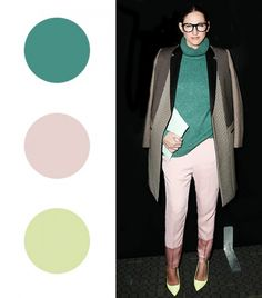Your Spring Guide To Wearing Color Now via @WhoWhatWear greenish blue with light pink and yellow