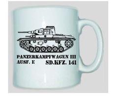 Tasse Panzerkampfwagen III SD.KFZ 141 / mehr Infos auf: www.Guntia-Militaria-Shop.de