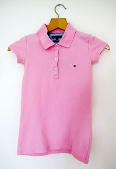 DIY Ladies Polo Shirt Upcycled to Girl's Dress. Instructions on the blog