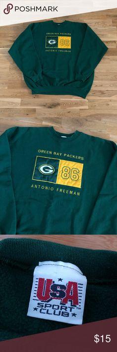 Vintage 90 s Green Bay Packers Crewneck Sweater c6bef31c0