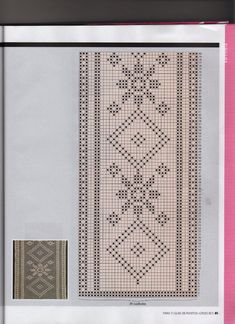 View album on Yandex. Filet Crochet, Crochet Borders, Crochet Diagram, Crochet Stitches, Crochet Table Runner Pattern, Crochet Tablecloth, Crochet Dollies, Crochet Lace, Embroidery Patterns