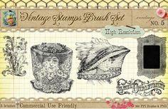 Vintage Ladies Department Digital Stamps #printables