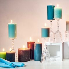 Rustic Pillar Candle (Set of Butlers