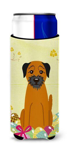 Easter Eggs Border Terrier Michelob Ultra Hugger for slim cans BB6039MUK