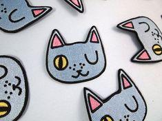 Black Head Cat Wing Cartoon Funny Devil Satan Applique Iron on Patch Sew DIY
