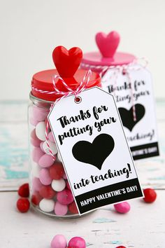 Valentine's Day teacher gift: thanks for putting your heart into teaching!