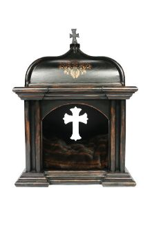 Gothic Dog Bed $1,950  Custom Made by Donna Decorates Dallas!   This is over the top and still going!  :0
