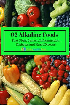 Alkaline diet is simply a diet that relies heavily on nutrients derived from vegetables and other natural foods. Anyone can benefit from such a diet so with that in mind here are several alkaline foods that you can start adding to your diet. Alkaline Diet Recipes, Acidic Foods, Clean Eating, Healthy Eating, Cancer Fighting Foods, Foods That Fight Cancer, Cancer Foods, Colon Cancer, Food Charts