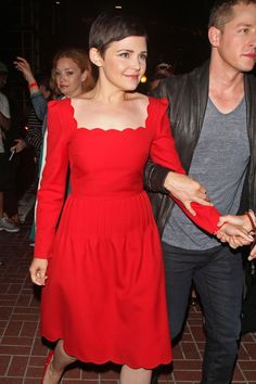 """Ginnifer Goodwin and Josh Dallas. His hands; he's like """"walk with me. Now."""""""