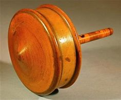 19th Century Antique Victorian Box Wood Whistle Toy Spinning Top - Art Curator & Art Adviser. I am targeting the most exceptional art! See Catalog @ http://www.BusaccaGallery.com