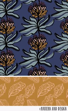 Pen and ink drawing turned into a surface pattern design. Surface pattern design by Pattern and Design from the Serendipity Collection Painting Patterns, Print Patterns, Pattern Designs, Ink Drawings, Flower Drawings, Sketching Techniques, Surface Pattern Design, Pattern Design Drawing, Cross Hatching
