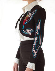 Handmade Bolero Jacket - San Antonio Fritz - Western Wear for Rocket, Ranch & Rodeo Western Outfits, Western Wear, Chain Stitch Embroidery, Bolero Jacket, Cowgirl Style, Country Girls, Rodeo, San Antonio, Custom Made