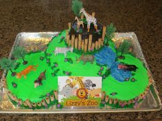 Zoo cake for Lizzy's b-day
